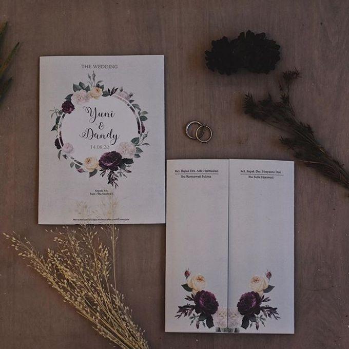 Wedding Invitation Flower Yuni & Dandy by Sae Creative - 002