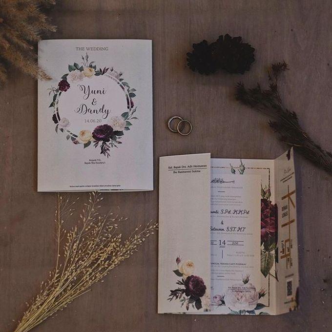 Wedding Invitation Flower Yuni & Dandy by Sae Creative - 001