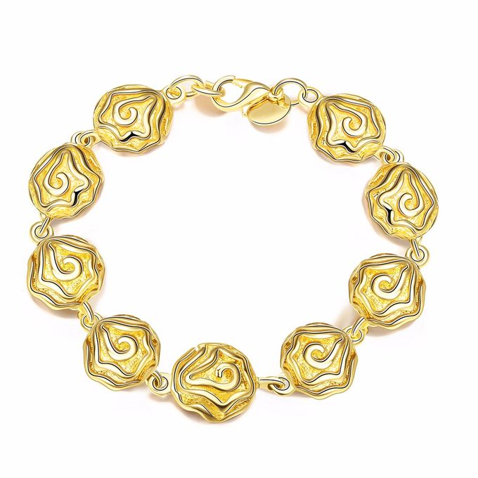 TIARIA Rose Shaped Gold Bracelet Perhiasan Gelang Emas by TIARIA - 003