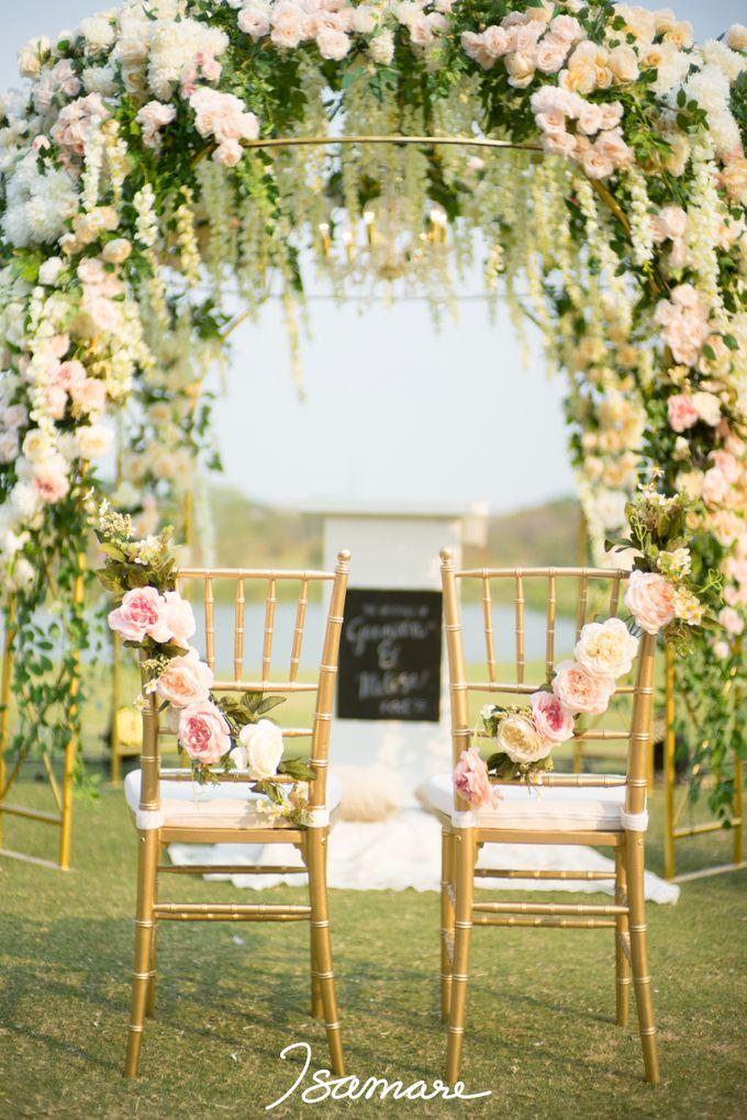 Gunawan & Melisa - Timeless Blush & Gold Wedding by isamare - 008