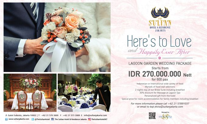 Wedding Package at Lagoon Garden The Sultan Hotel & Residence Jakarta by The Sultan Hotel & Residence Jakarta - 008