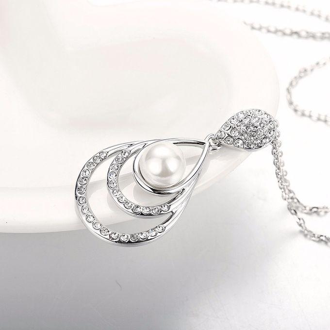 TIARIA Diamond Enlarged Pearl Gold Necklace Perhiasan Emas Kalung Berlian by TIARIA - 002