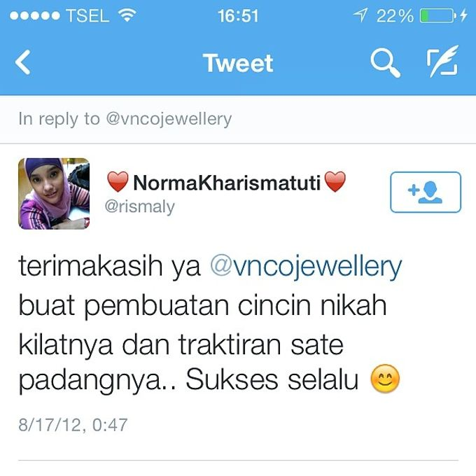 testimoni & review customer by V&Co Jewellery - 006