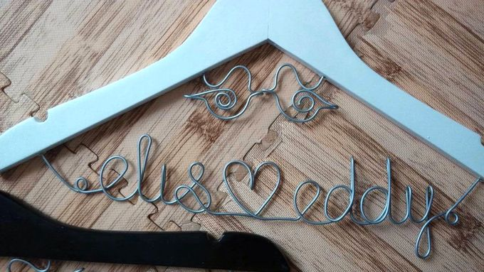 Wedding Hangers with Lovebird Add-On! by Béllicimo Personalized Hanger & Favors - 003