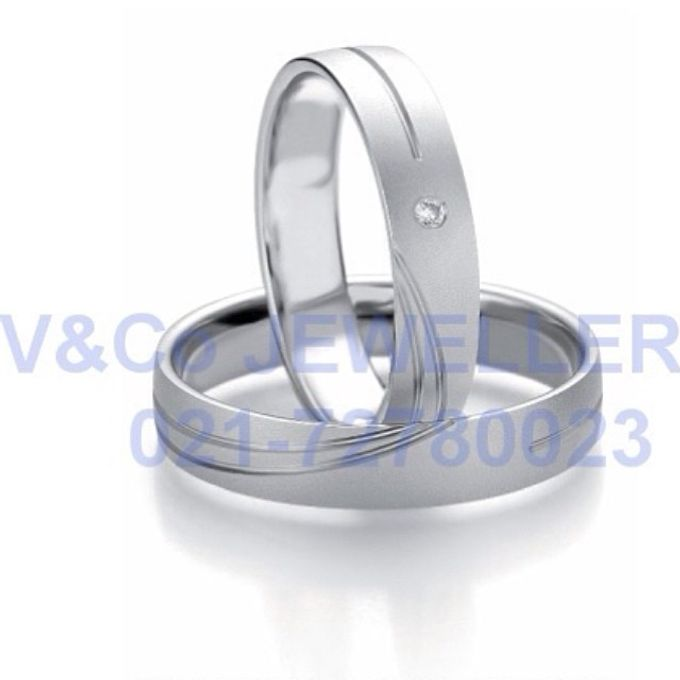 wedding ring simple Design by V&Co Jewellery - 033
