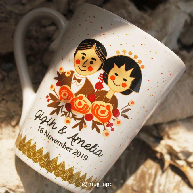 MUG V WEDDING GIGIH & AMELIA by Mug-App Wedding Souvenir - 001