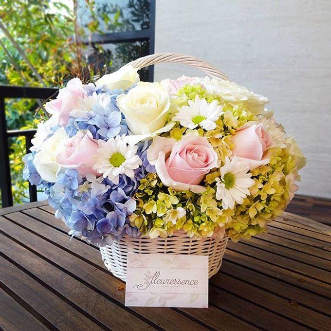 FLOWER BASKET AND VASE by Fleuressence - 002