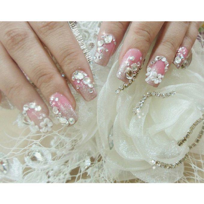 custom wedding nails by Veeana Nails - 006