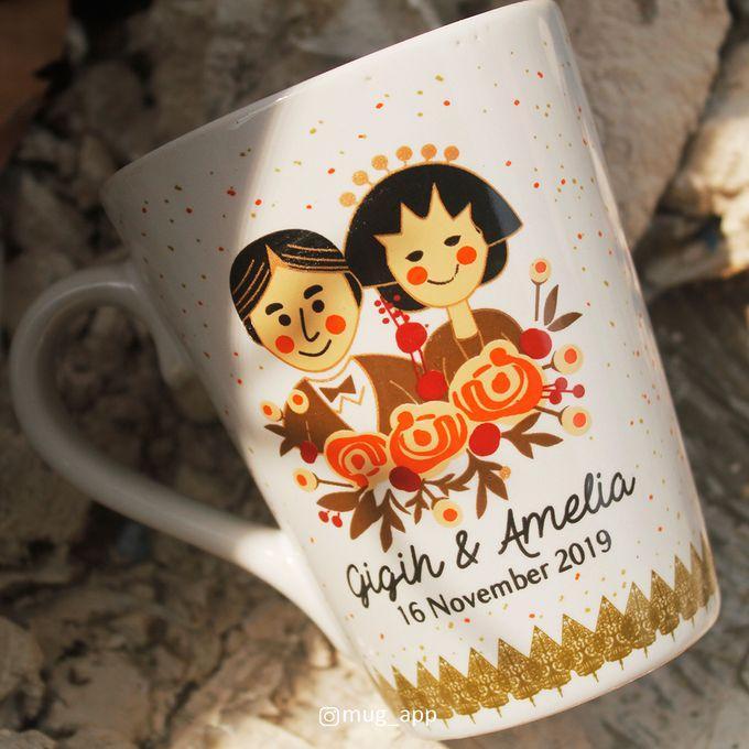 MUG V WEDDING GIGIH & AMELIA by Mug-App Wedding Souvenir - 002