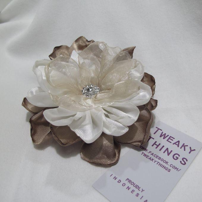 Flower brooch and hairclip by TweakyThings - 007