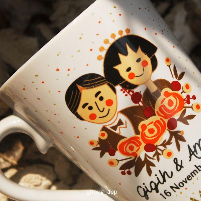 MUG V WEDDING GIGIH & AMELIA by Mug-App Wedding Souvenir - 003