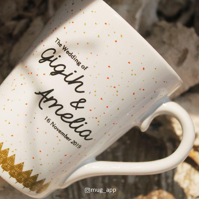 MUG V WEDDING GIGIH & AMELIA by Mug-App Wedding Souvenir - 004