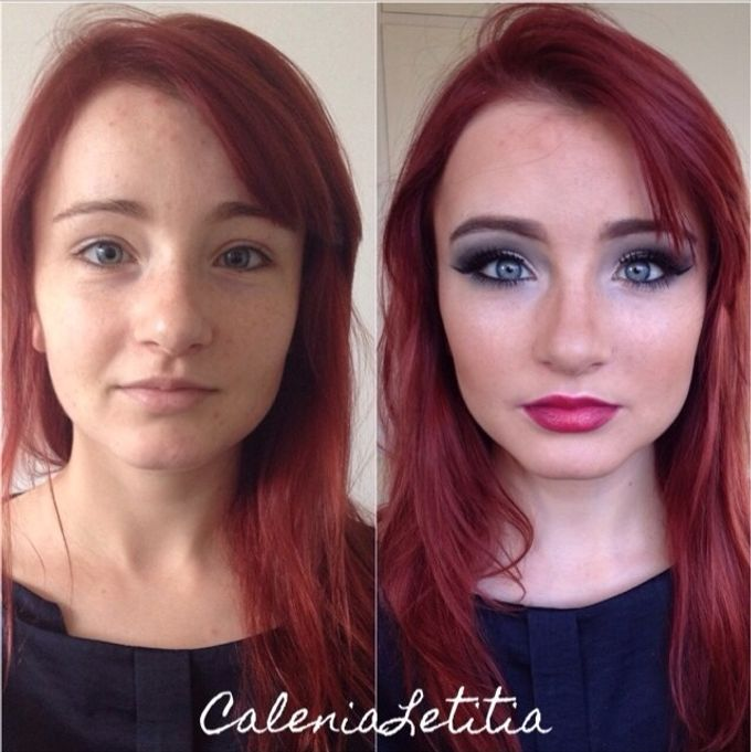 Before - After Makeup by Calenia Letitia Makeup Artist - 003