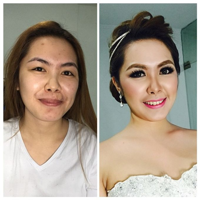 Before After Makeup By Kenshie Lie Mua Bridestorycom