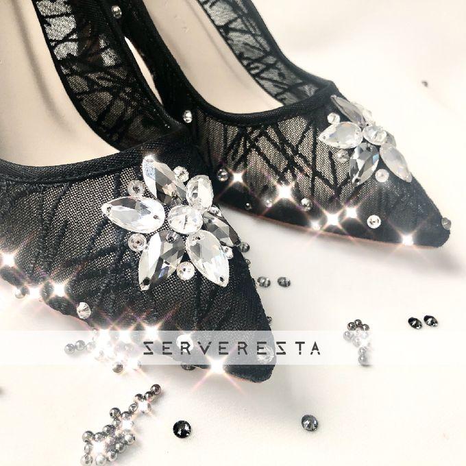 Vinette Flower Pattern - Black by SERVERESTA - 004