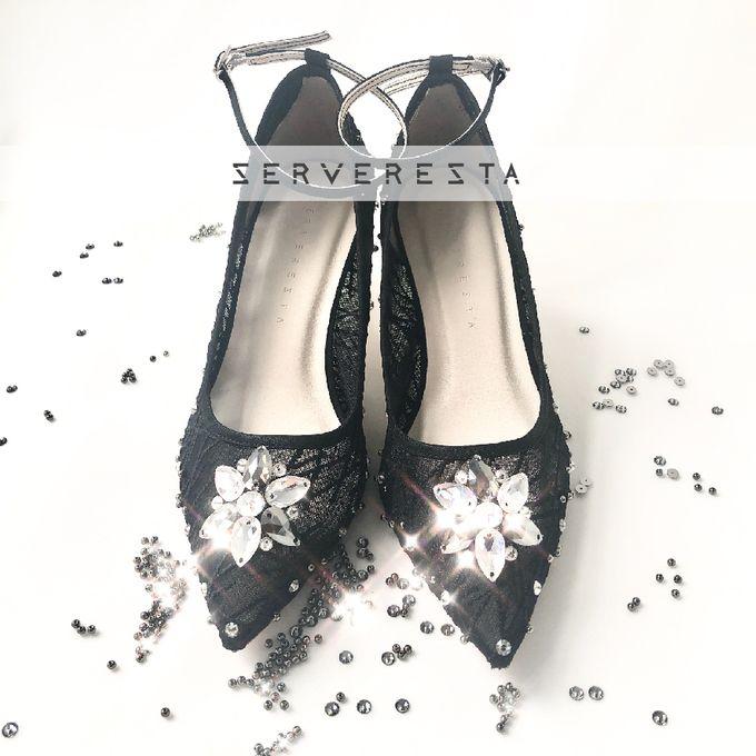 Vinette Flower Pattern - Black by SERVERESTA - 003