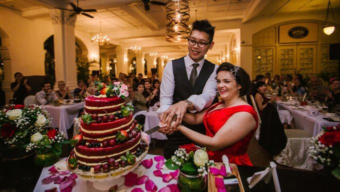 Wedding of Ian & Kelly @ Halia at Raffles Hotel by The Halia - 009