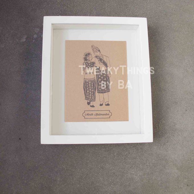 """The Bride and Groom"" Series - 1st edition, printed and framed by TweakyThings - 004"