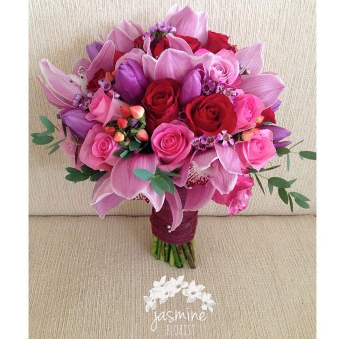 Wedding Bouquet by Jasmine Florist - 002