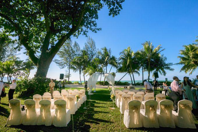 Wedding by the Beach by Shangri-La Rasa Sayang Resort - 009