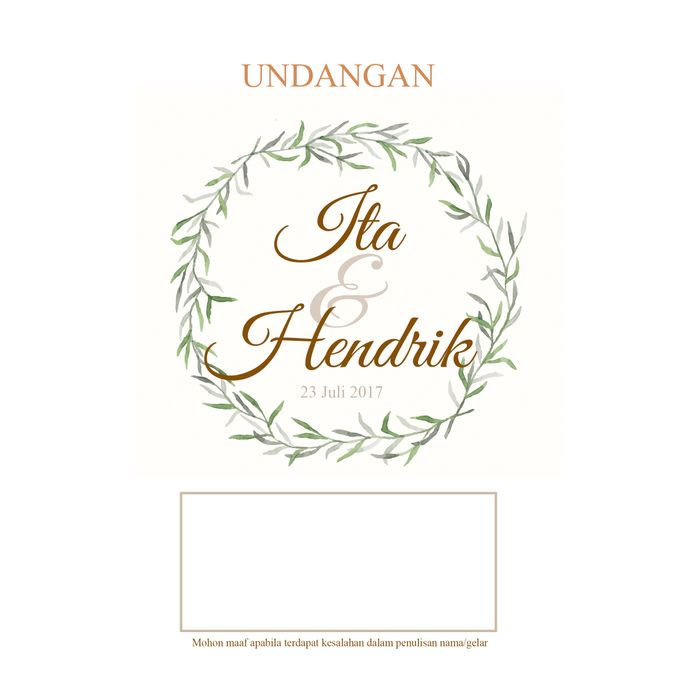 Desain Undangan Ita Dan Hendrik Ideberideproject Bridestory