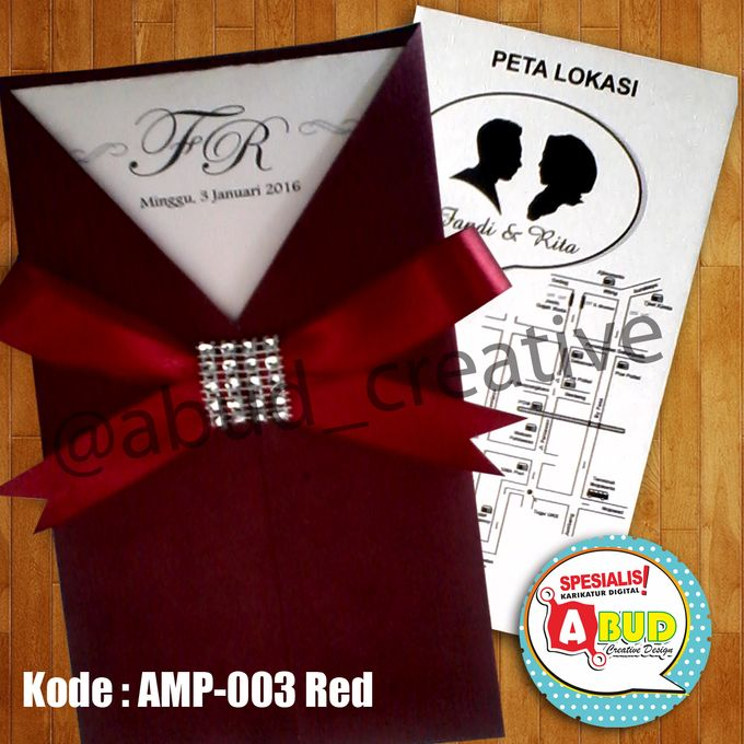 Elegant Ribbon Invitation by Abud Creative Design - 001