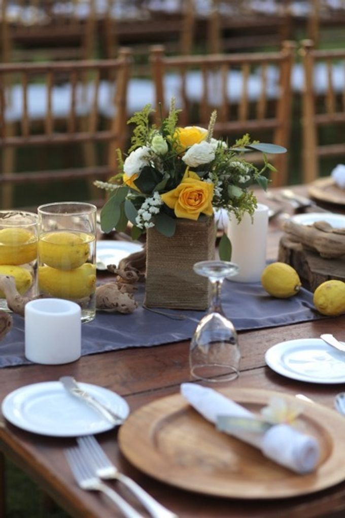 Cheerfulness Yellow at Pandawa Cliff Estate by Flora Botanica Designs - 005