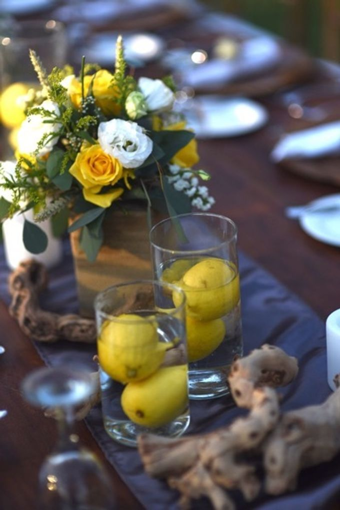Cheerfulness Yellow at Pandawa Cliff Estate by Flora Botanica Designs - 022