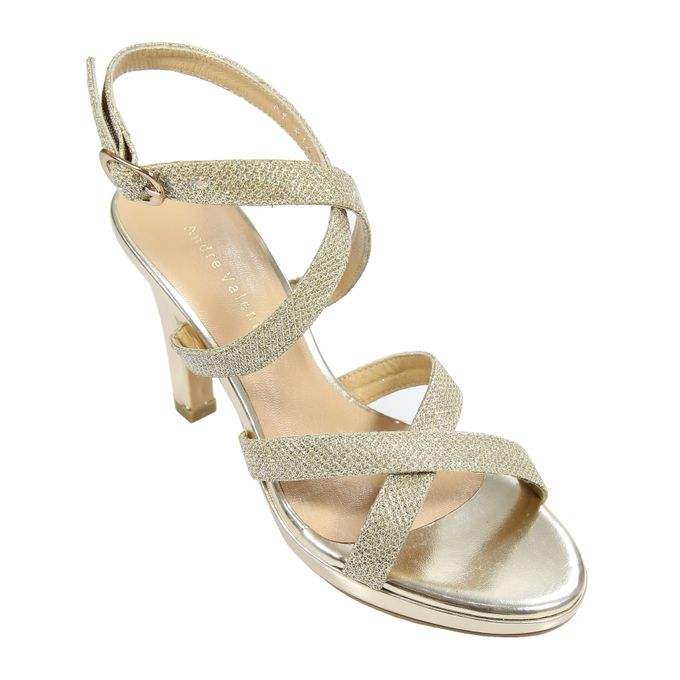 Strappy Heels by Andre Valentino Bridal Shoes - 004