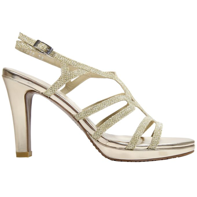 Strappy Heels by Andre Valentino Bridal Shoes - 005