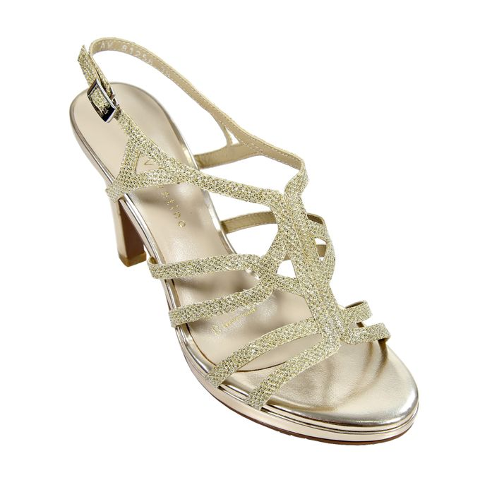 Strappy Heels by Andre Valentino Bridal Shoes - 006