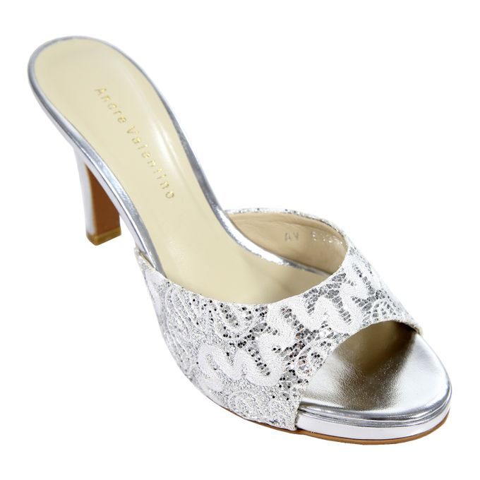 Middle Heels by Andre Valentino Bridal Shoes - 010