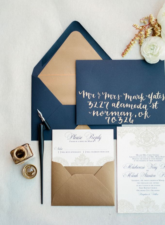 City Chic Navy & Gold Wedding by Amanda Watson Photography - 002