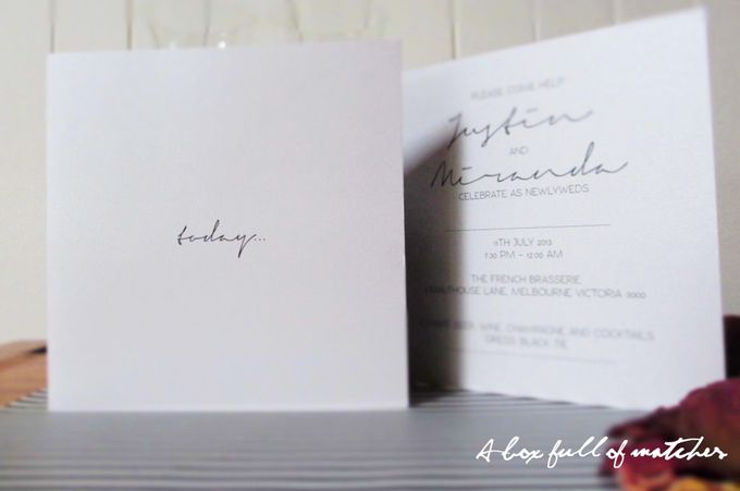 Wedding Invitations Custom Designed - Photographic by A Box Full of Matches - 003