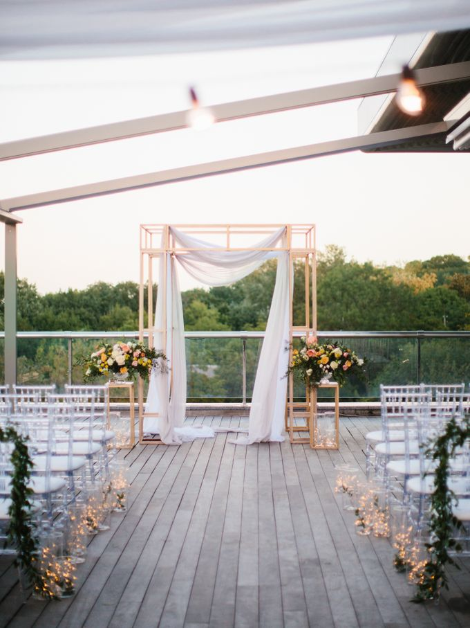 Rooftop Wedding Party in Kiev by Caramel Events - 042