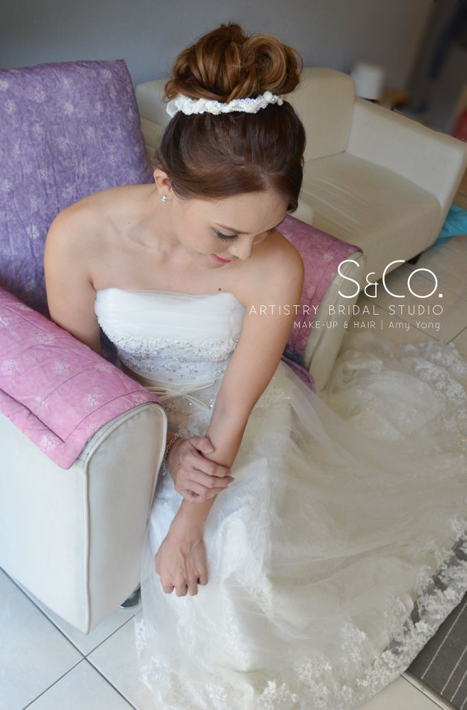 Bridal Hair Style by S & Co. Artistry Bridal Makeup Studio - 001