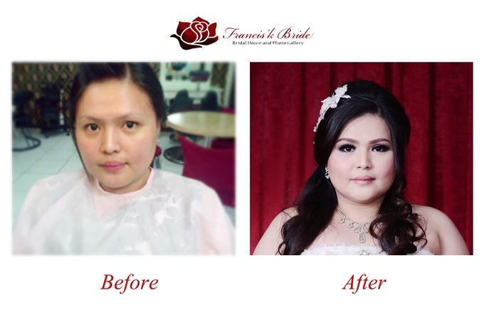 Before - After Make Up by Francis'k Bride - 001