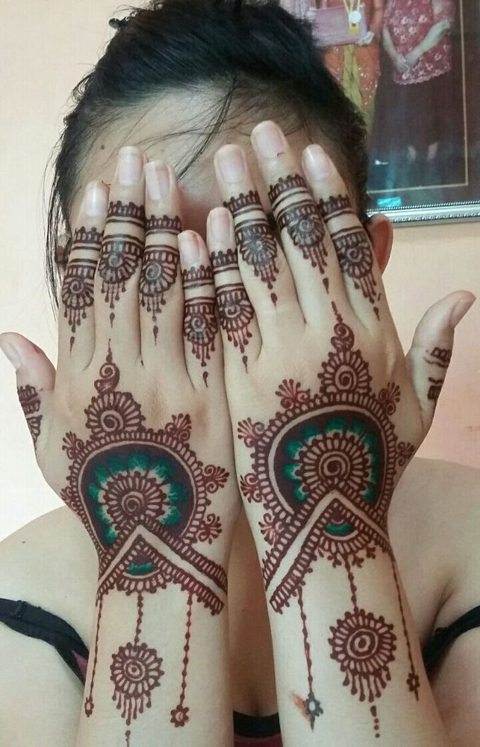 Ethnic Red Henna by Meby Henna Art - 002