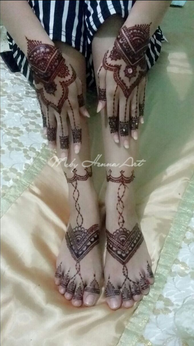 Ethnic Red Henna by Meby Henna Art - 009