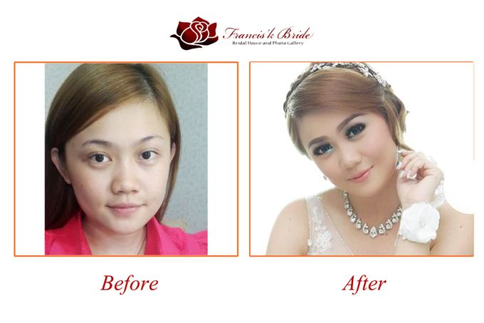 Before - After Make Up by Francis'k Bride - 002