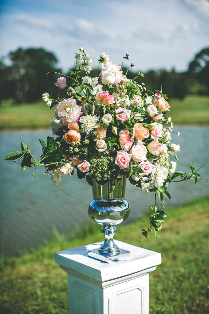 Ceremony and Reception by Affair with George  Florals & Event Styling - 004