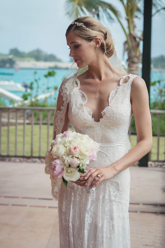 Wedding in tropical island ruins by Maria Elena Headpieces Australia - 005