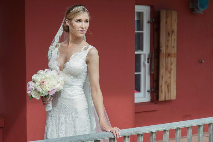 Wedding in tropical island ruins by Maria Elena Headpieces Australia - 006