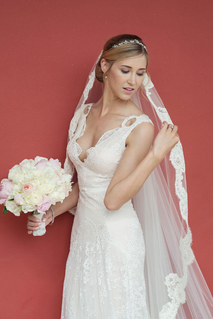 Wedding in tropical island ruins by Maria Elena Headpieces Australia - 007