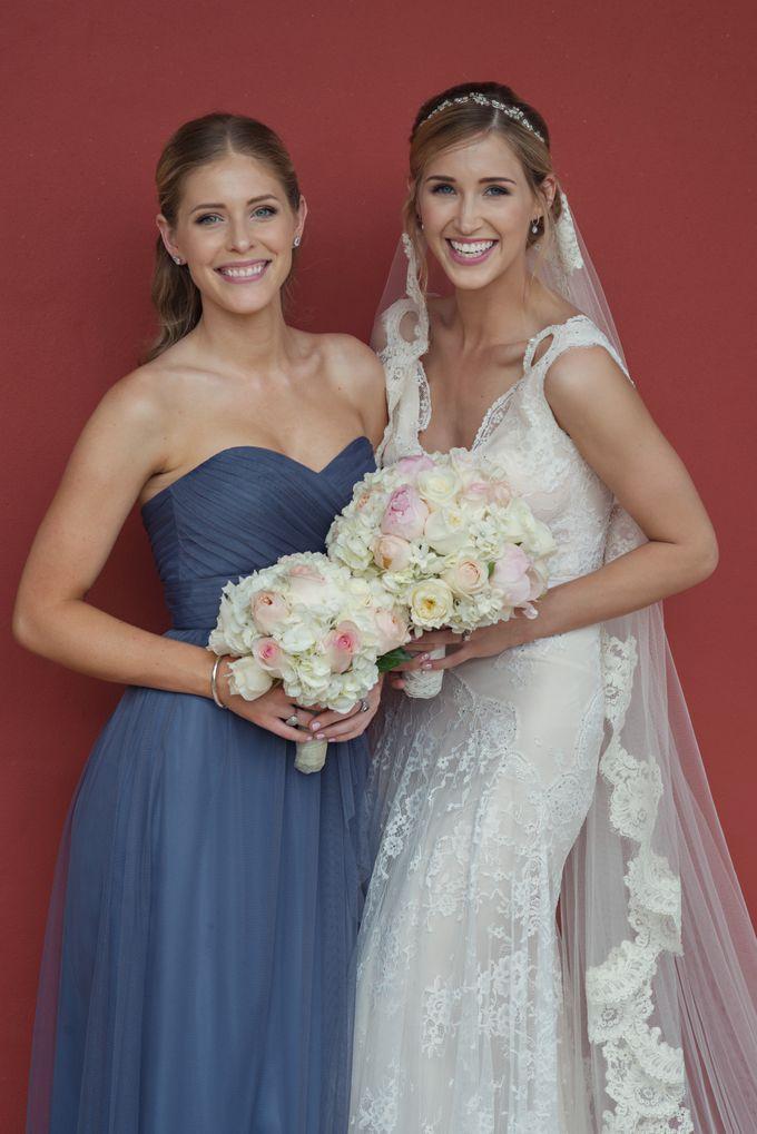 Wedding in tropical island ruins by Maria Elena Headpieces Australia - 010