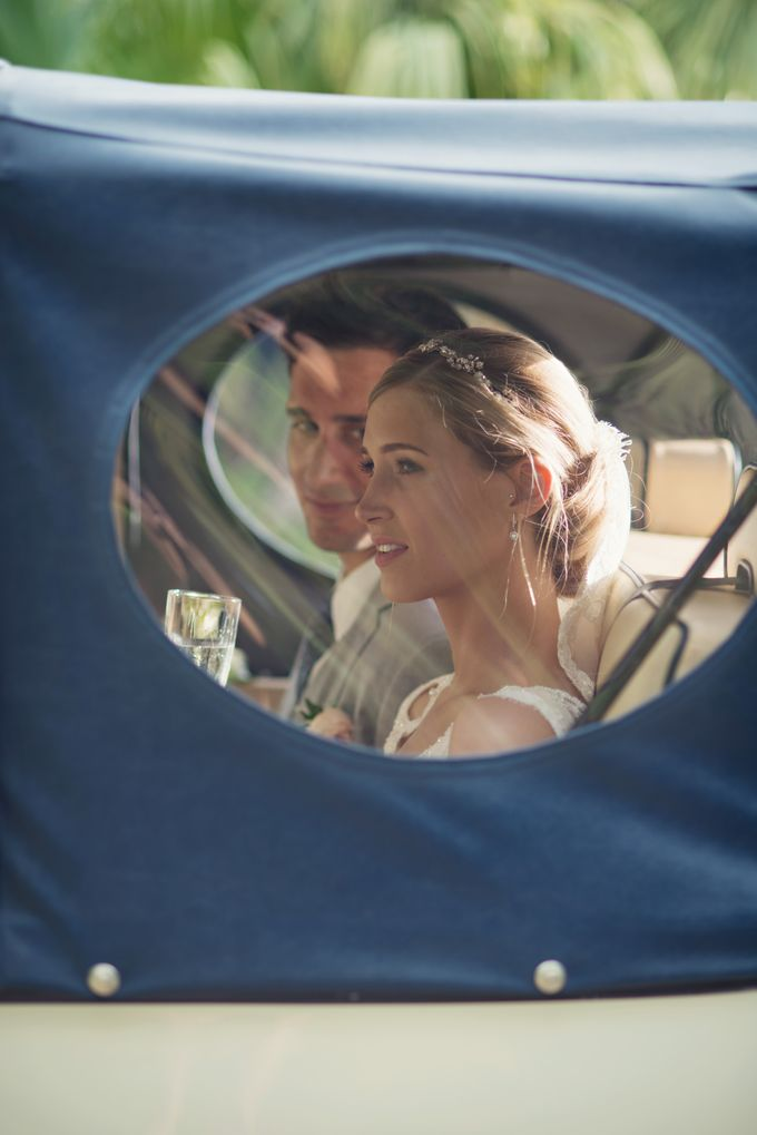 Wedding in tropical island ruins by Maria Elena Headpieces Australia - 017