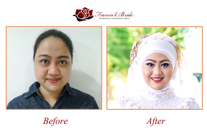 Before - After Make Up by Francis'k Bride - 003