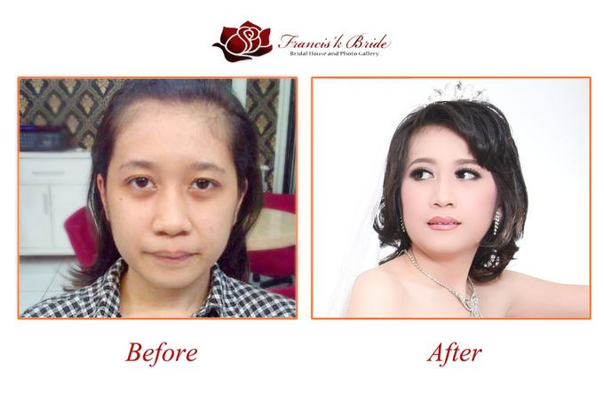 Before - After Make Up by Francis'k Bride - 004