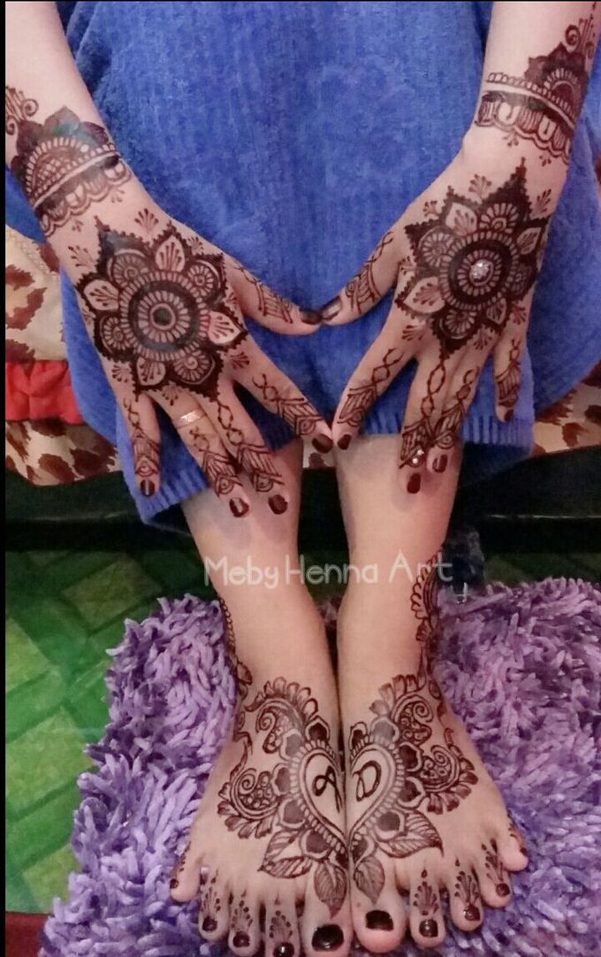 Ethnic Red Henna by Meby Henna Art - 019