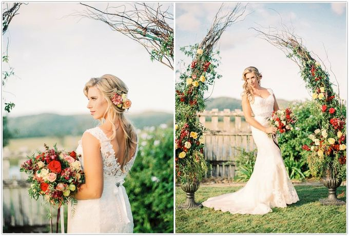 A glamorous garden wedding ticks all the right boxes for opulence and romance by Ginger Lily & Rose Floral Studio - 001